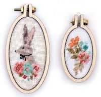 Mini Oval Hoop Kit - Floral & Bunny