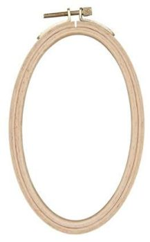 "Wood Oval Embroidery Hoop - 4"" x 6"""