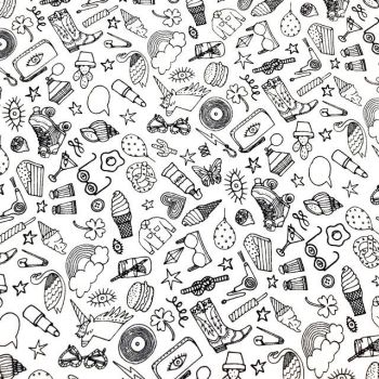 Cotton Fabric - Doodles