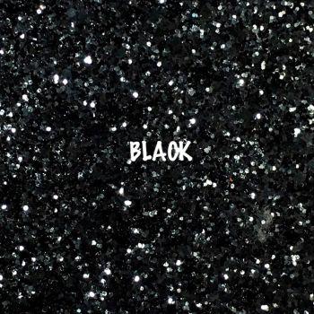 Glitz Chunky Glitter Fabric - Black
