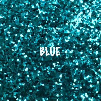 Glitz Chunky Glitter Fabric - Blue