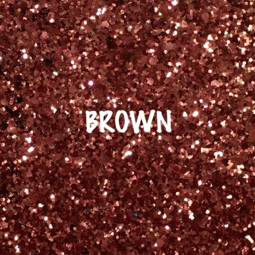 Glitz Chunky Glitter Fabric - Brown