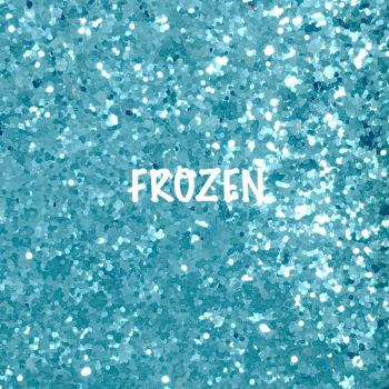Glitz Chunky Glitter Fabric - Frozen