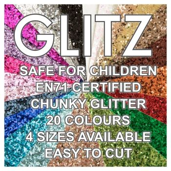 Glitz Chunky Glitter Fabric - Bulk Sheets
