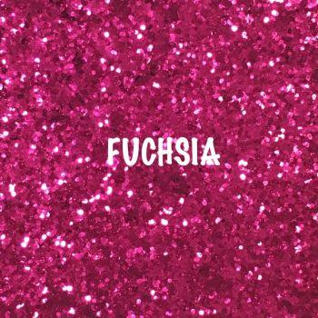 Glitz Chunky Glitter Fabric - Fuchsia