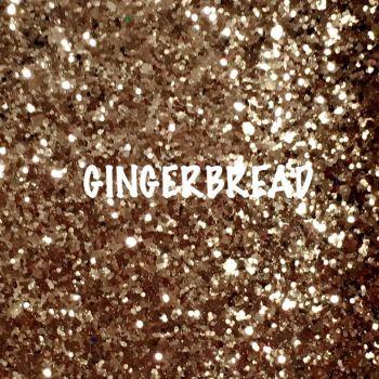 Glitz Chunky Glitter Fabric - Gingerbread