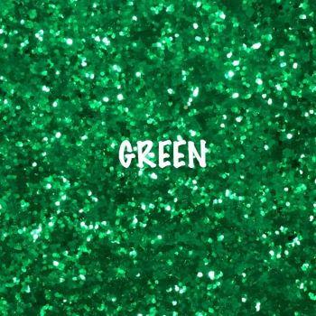 Glitz Chunky Glitter Fabric - Green