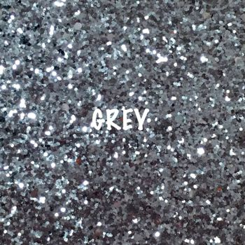 Glitz Chunky Glitter Fabric - Grey