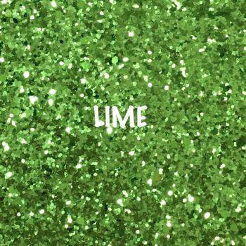 Glitz Chunky Glitter Fabric - Lime