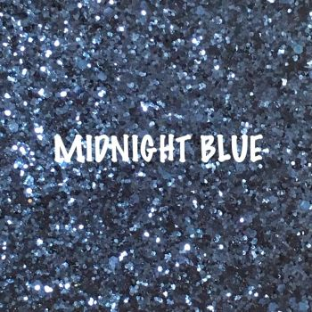 Glitz Chunky Glitter Fabric - Midnight Blue