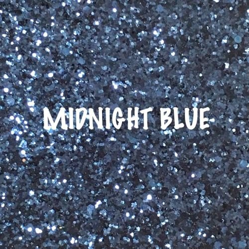 Glitz Chunky Glitter Fabric - Midnight Blue
