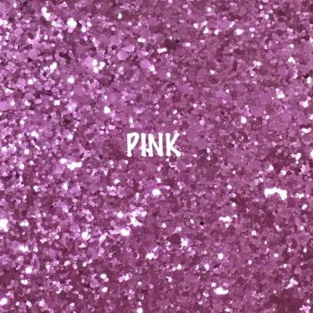 Glitz Chunky Glitter Fabric - Pink