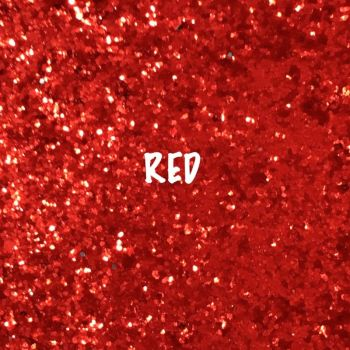 Glitz Chunky Glitter Fabric - Red