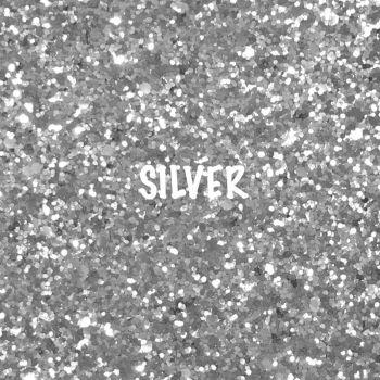 Glitz Chunky Glitter Fabric - Silver