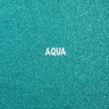 Shimmer Fine Glitter Fabric - Aqua