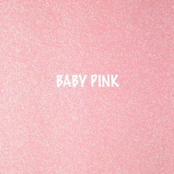 Shimmer Fine Glitter Fabric - Baby Pink