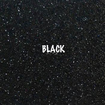 Shimmer Fine Glitter Fabric - Black