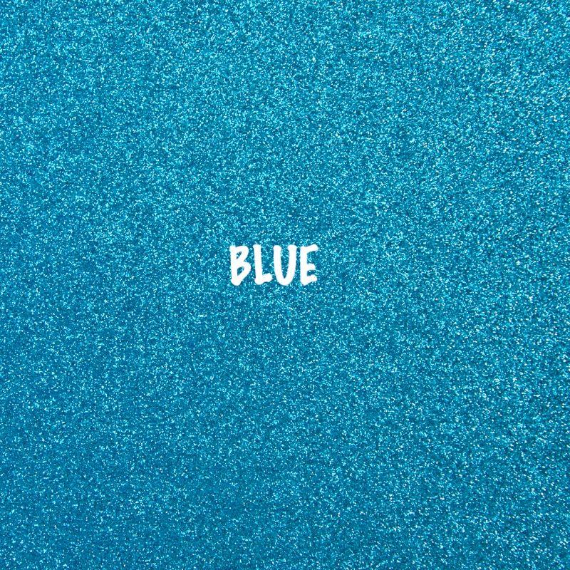 Shimmer Fine Glitter Fabric - Blue