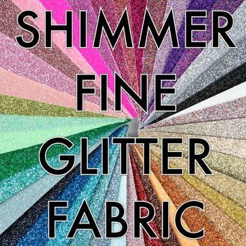 Shimmer Fine Glitter Fabric - Bulk Sheets