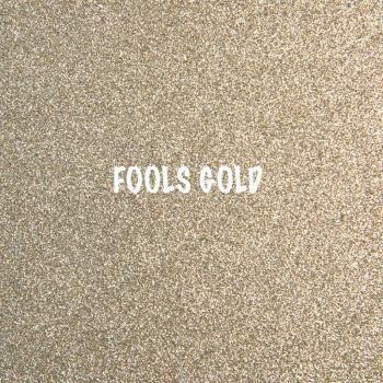 Shimmer Fine Glitter Fabric - Fools Gold