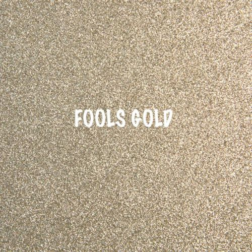 Shimmer Fine Glitter Fabric - Fools Gold
