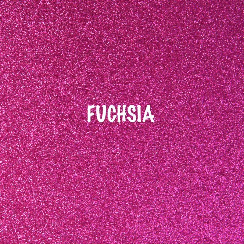 Shimmer Fine Glitter Fabric - Fuchsia