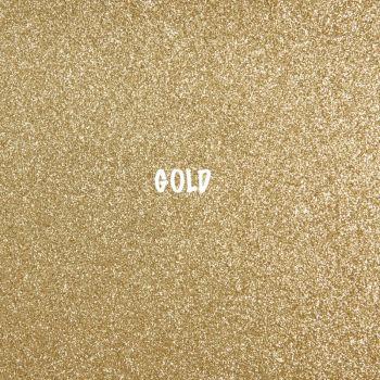 Shimmer Fine Glitter Fabric - Gold