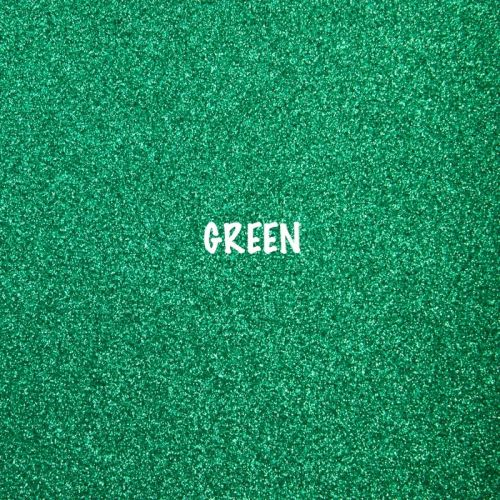 Shimmer Fine Glitter Fabric - Green