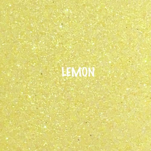 Shimmer Fine Glitter Fabric - Lemon Yellow