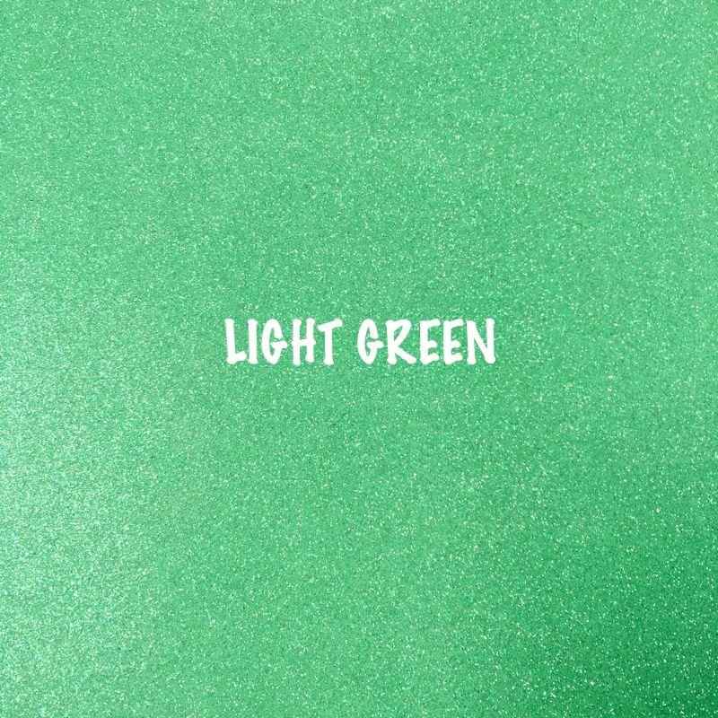 Shimmer Fine Glitter Fabric - Light Green