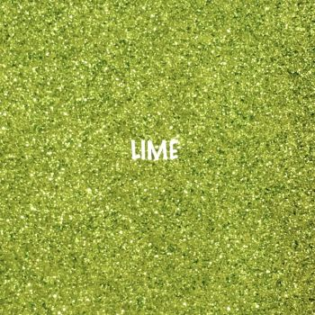 Shimmer Fine Glitter Fabric - Lime Green