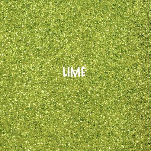 Shimmer Fine Glitter Fabric - Lime Green