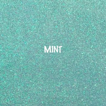 Shimmer Fine Glitter Fabric - Mint
