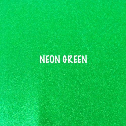 Shimmer Fine Glitter Fabric - Neon Green