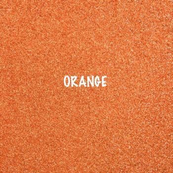 Shimmer Fine Glitter Fabric - Orange