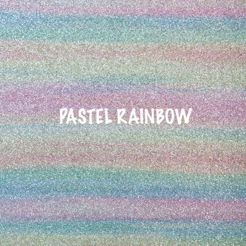 Shimmer Fine Glitter Fabric - Pastel Rainbow