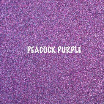 Shimmer Fine Glitter Fabric - Peacock Purple