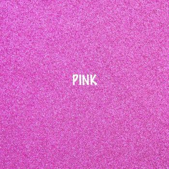 Shimmer Fine Glitter Fabric - Pink