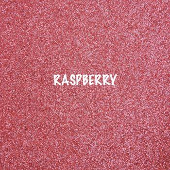 Shimmer Fine Glitter Fabric - Raspberry