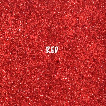 Shimmer Fine Glitter Fabric - Red