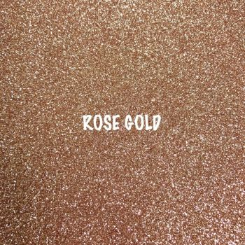 Shimmer Fine Glitter Fabric - Rose Gold