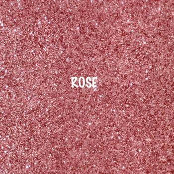 Shimmer Fine Glitter Fabric - Rose