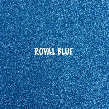 Shimmer Fine Glitter Fabric - Royal Blue