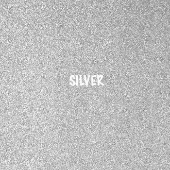 Shimmer Fine Glitter Fabric - Silver