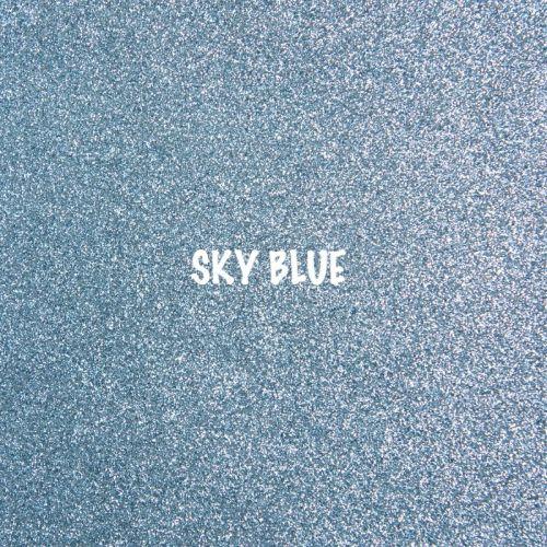 Shimmer Fine Glitter Fabric - Sky Blue