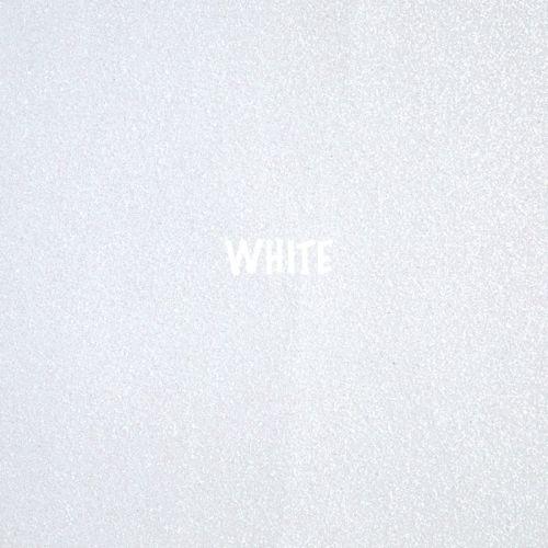 Shimmer Fine Glitter Fabric - White