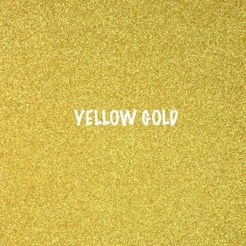 Shimmer Fine Glitter Fabric - Yellow Gold