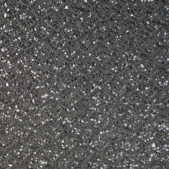 Mermaid Lace Glitter Fabric Sheet - Black