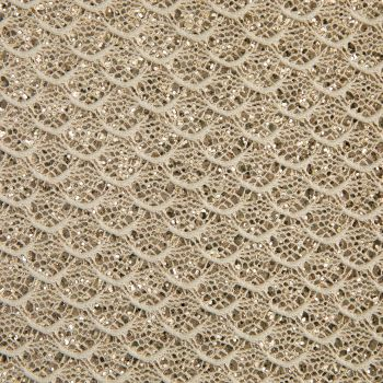Mermaid Lace Glitter Fabric Sheet - Pale Gold