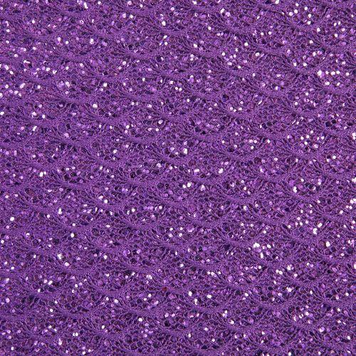 Mermaid Lace Glitter Fabric Sheet - Purple